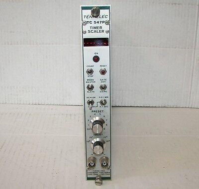Tennelec Tc 547p Timer Scaler Digital Readout Nim Bin Module