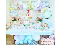 Party decorations balloons baloons and backdrops, children's and adult birthdays