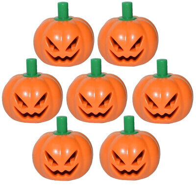 7 NEW LEGO JACK-O-LANTERN PUMPKIN LOT halloween minifig mask minifigure patch