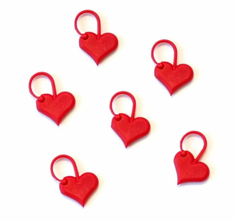 ADDI Love Heart Stitch Markers, Addi Stitch Markers, Heart Stitch Markers