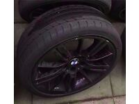 "Bmw Mv3 Black 18"" alloy wheel 8j CAN POST"