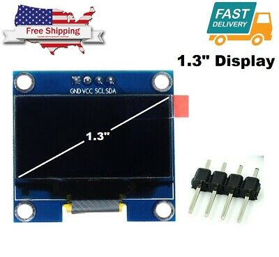 1.3 White Oled Lcd 4pin Display Module Iic I2c 128x64 For Arduino Sh1106