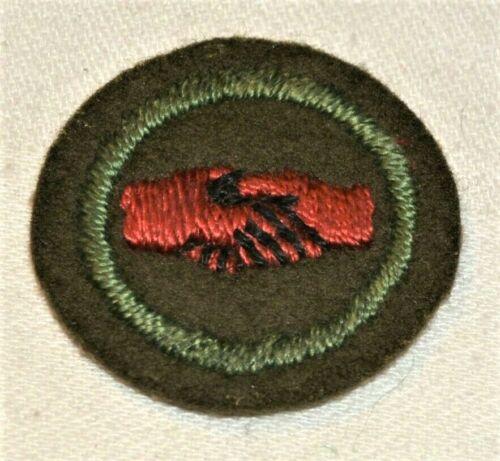 Red HANDS Boy Scout Interpreter FELT Proficiency Award Badge Troop 103119