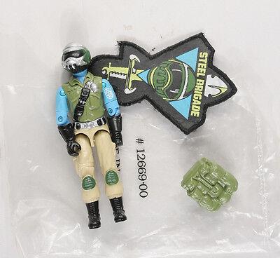 Hasbro G.I. Joe Steel Brigade Mail in figure Mint Loose unplayed with NO GUN!