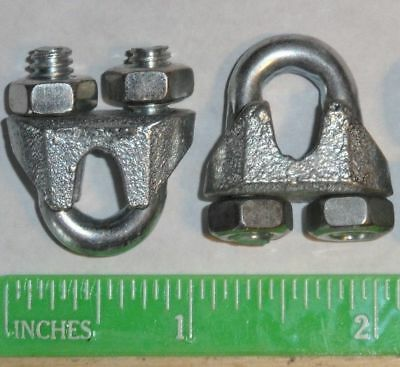 Cable Clamps 316 U-bolts Galvanized Clamps Steel Cable Wire Clips U Bolt