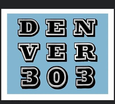 Denver 303 Print by Ben Eine Print Signed Numbered Graffiti Artist like Banksy