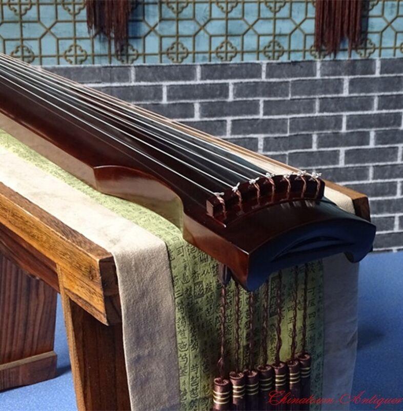 "48"" Professional Guqin Chinese 7-stringed zither instrument Zhong-Ni 仲尼式 #1538"