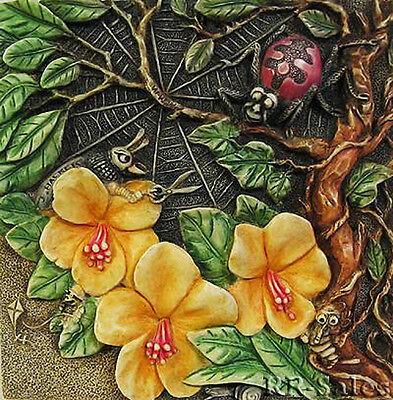 Spider Web Tile Webmasters Woe Harmony Kingdom Byrons Secret Garden Picturesque