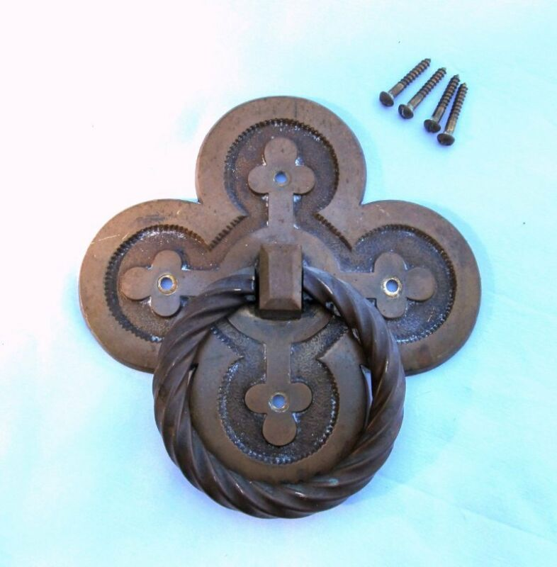 Antique Bronze Brass Arts & Crafts Mission Door Knocker