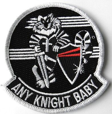 US NAVY F-14 TOMCAT ANY KNIGHT BABY EMBROIDERED PATCH 3 INCHES