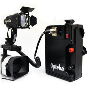 Opteka VL-100 100-Watt Halogen Camcorder Video Light w/ 12v Rechargeable Battery