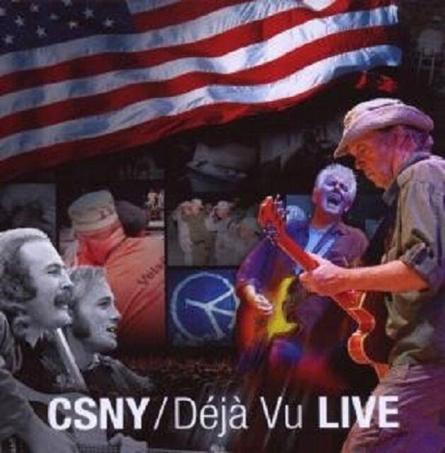 """STILLS NASH & YOUNG CROSBY """"DEJA VU LIVE"""" CD NEU"""