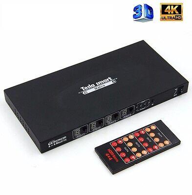 TELSA High Speed 3D 4K HDMI Matrix Switcher 4x4 v1.4 Full HD Audio Video Matrix