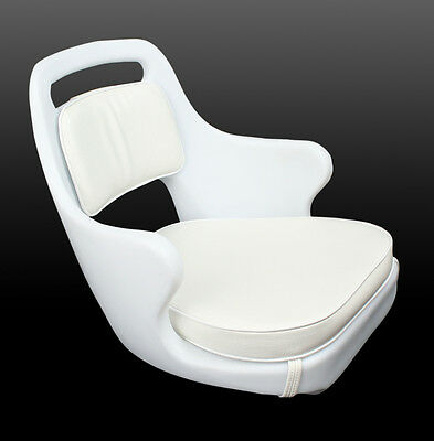 Used, Todd Chesapeake White Helm Seat - CHAIR ONLY - Boat Seat 85-1538 for sale  Boynton Beach