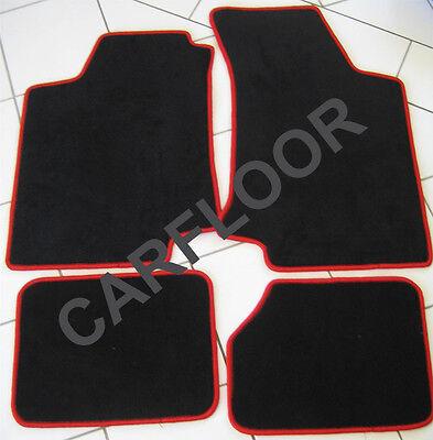 Für BMW 4er F32 Coupe Fußmatten Velours Deluxe schwarz mit Nubukband schwarz