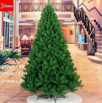 6/6.5/7 FT Artificial Christmas Bushy Tree Xmas Tree W/Stand Traditional Decor Decorating Artificial Christmas Tree