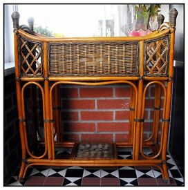 Ornate Indoor Wicker Plant Stand/Drinks Console