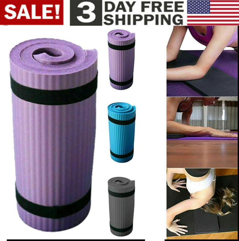Knee Elbow Yoga Mat Pilates Workout Thick Gym Sport Fitness