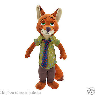 "ZOOTOPIA LARGE 12"" 30cm NICK WILDE FOX SOFT PLUSH CUDDLY TOY"