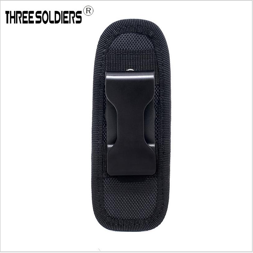 Black Molle 360° Rotatable Nylon Flashlight Holster Holder Bag Waist Pouch US Hunting