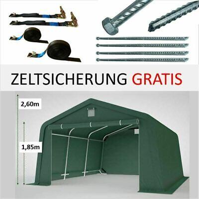 Zeltgarage Lagerzelt 3,3x4,7m Auto Rundbogenhalle GRÜN Weidehütte Offenstall
