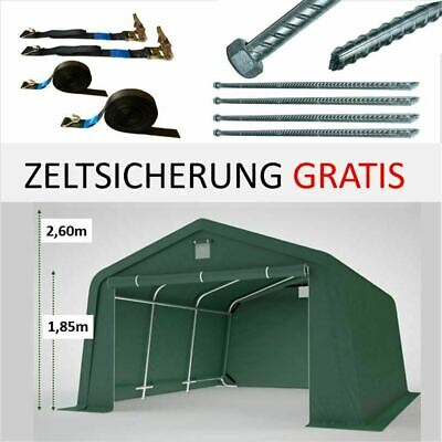 Zeltgarage Lagerzelt  Weidezelt Rundbogenhalle GRÜN Weidehütte Offenstall ca.3x5