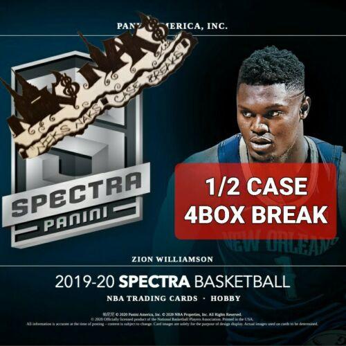 NEW ORLEANS PELICANS 2019-20 SPECTRA BASKETBALL 1/2 CASE 4 BOX BREAK 2 LIVE  - $860.00