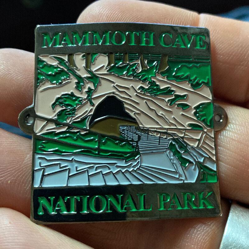 Mammoth Cave National Park walking Hiking Medallion NEW staff Kentucky