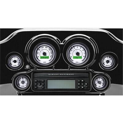 Dakota Digital MVX-8600-WG-K MVX-8K 6 Gauge Plug White/Gray Black Bezels 96-03