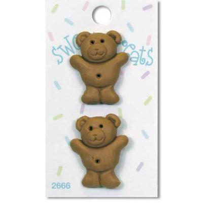 Teddy Bear Cookie Sweet Treat  Buttons/Novelty Buttons/DIY Craft Buttons ](Bear Costume Diy)