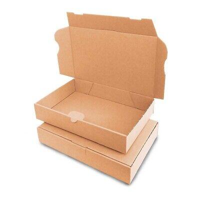 100 Cajas de cartón (24 x 16 x 4,5 cm) Kraft Automontables Para Envíos Postales
