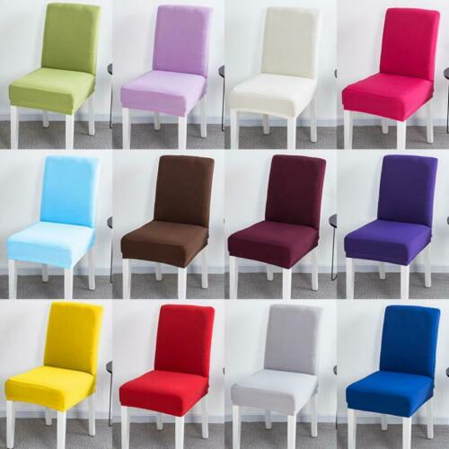 Elastic Dining Room Chair Covers Seat Slipcover for Kitchen
