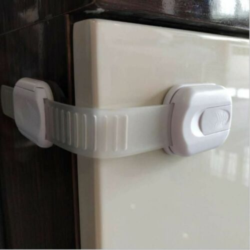 4 Pack Child Safety Strap Locks for Drawers Fridge Cabinets Oven Toilet Seat
