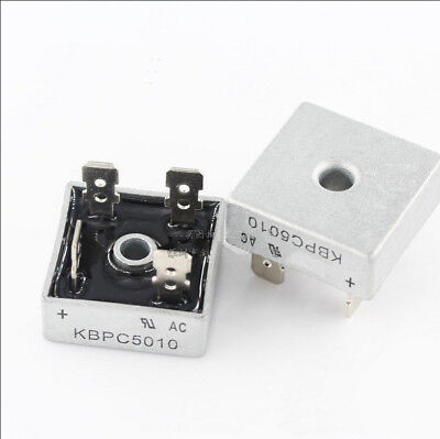 Metal Case Single Phases Diode  Rectifier KBPC5010  10PCS 50A //1000V