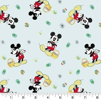 Mickey Easter Basket (Mickey mouse with Easter basket for Easter day Disney Fabric by the half yard)