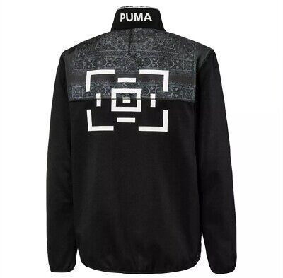 New Sz XL Puma x Les Benjamins Men's Track Top Zip Up Jacket Black 595467 01