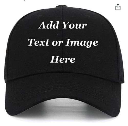 Customized and personalized Embroidery black Cap (MINIMUM 2/ea)