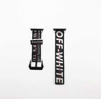 OFF WHITE APPLE WATCH BAND 42mm/44mm