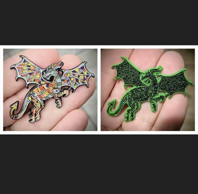 Danny Steinman Dragon - Fire on the Mountain - Semi-Blind Bag - New - 2 Pin Set