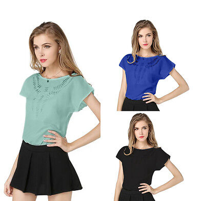 Women's Tops Summer Casual Career Loose Chiffon  Vest Blouse  Fashion