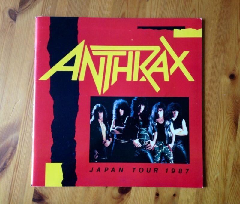 Anthrax 1987 Japan Tour concert program, tour book
