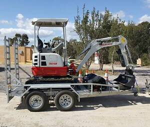 Mini Excavator Hire - 1.5T Reduced Swing Wandi Kwinana Area Preview