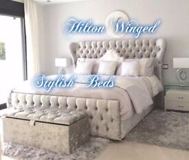 NEW-HILTON WING HANDMADE BED****£299 + FREE DELIVERY***