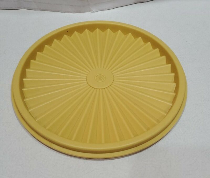 Tupperware 808 Yellow Replacement Canister Round Servalier LID ONLY