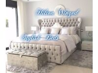NEW-HILTON HANDMADE WING BED***£299+FREE DELIVERY***