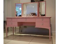 Stag Minstrel Dressing Table with Triple Adjustable Mirror
