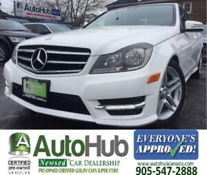 2014 Mercedes-Benz C-Class 4 MATIC-SUNROOF-LEATHER-BLUETOOTH-HEA