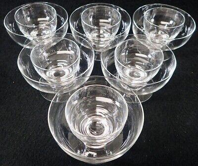 Vintage Shrimp Cocktail Icer Glasses Bowls 2 pc Set of (6) Stemware with Inserts Shrimp Cocktail Server