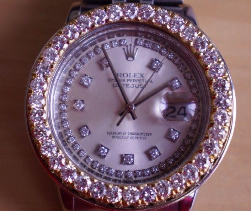 4.00 Ct Gold Diamond Bezel for Day date President 36mm Date Just Video ASAAR