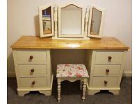 Solid Pine Dressing Table & Stool Laura Ashley Cath Kidston